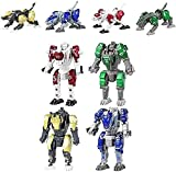 Robot niños Juguete Juguete 4pc Mini Robot transformación transformación de la transformación aleaciones Robot transformaciones Doble morfología Robot Transformación Juguetes para niños niños 3+ años