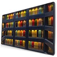 マウスパッド 大型 ゲーミング デスクマット 東京 マンション 多彩な ドア かわいい 防水性 耐久性 滑り止め 多機能 超大判 40cm×75cm