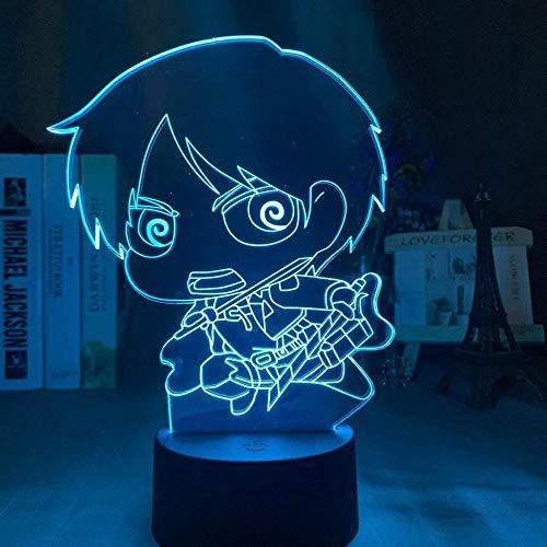 3D Lampe Anime Attack auf Titan Eren Yeager Led Nachtlicht Acryl für Home Room Decor Cool Kid Kind Geschenk 16 Farbe