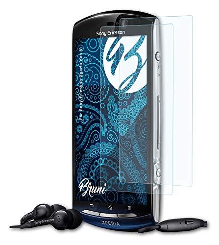 Bruni Schutzfolie kompatibel mit Sony-Ericsson Xperia neo V Folie, glasklare Bildschirmschutzfolie (2X)