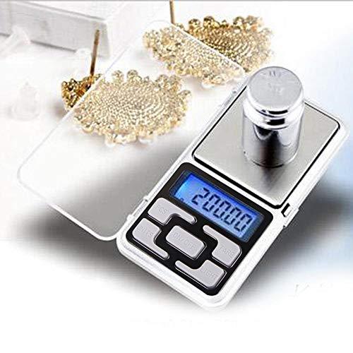 YAeele Escala electrónica de Bolsillo Digital 0.01g Precision Mini joyería de pesaje Escala de Bases de retroiluminación para Cocina 100/200/300/500 g (Color : 0.01g 300g)