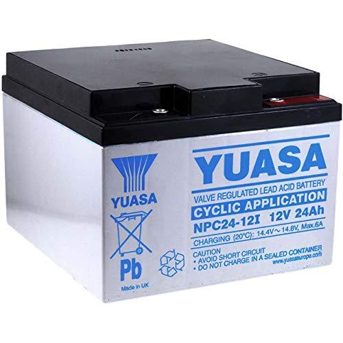 YUASA Batería de Plomo-ácido NPC24-12I (ciclo profundo)