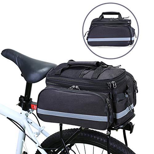 WILDKEN Bolsa Alforja Trasera Bicicleta Impermeable Bolso de Asiento Trasero para Viaje Portátil Extensible Bolsa de Hombro para Ciclismo al Aire Libre
