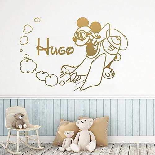 sanzangtang Cartoon Maus personalisierte Fee Wandaufkleber Wandaufkleber Abziehbilder für Kinderzimmer Dekoration Mode Vinyl Aufkleber, 58x85cm