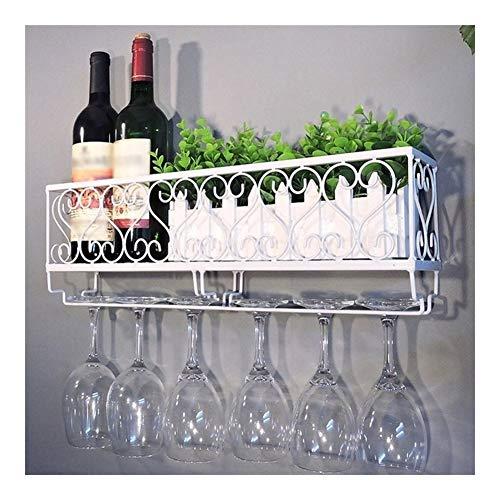 Jiji Opbergplank Muur Mount Metalen Wijnrek Wijnfles Plank Met Glazen Houder Fles Champagne Glas Hangende Houder Hanger Fles Planken Plank