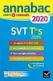 Annales Annabac 2020 SVT Tle S - Sujets et corrigés du bac Terminale S