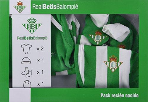 Real Betis Balompié Setbet Set para bebé, Verde/Blanco,