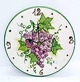Orologio da muro Linea Uva Ceramica Cucina Linea Frutti Misti...