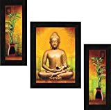 SAF Set of 3 Buddha Vastu UV Coated Home Decorative Gift Item Framed Painting 13.5 inch X 22.5 inch SAF30 safety posters Apr, 2021