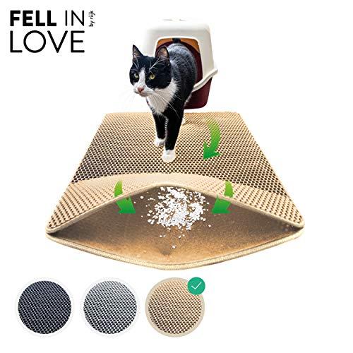 riijk Katzenstreu Matte für die Katzentoilette – der XXL Streufang Vorleger fürs Katzenklo, Katzenklomatte