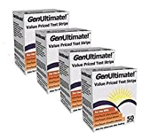 Genultimate Blood Glucose Test Strips for Use with One Touch Ultra, Ultra 2 and Ultra Mini Meter, 200 ct Strips (2 boxes of 100)Number One Rated Generic,