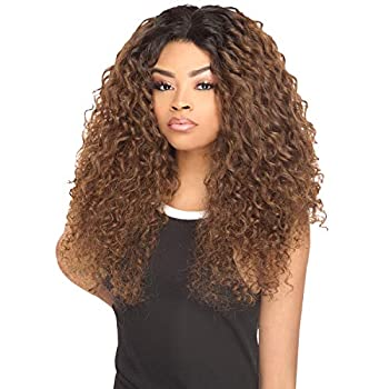 The Stylist Synthetic Lace Front Wig Swiss Lace Silk Top Curly Curls  1