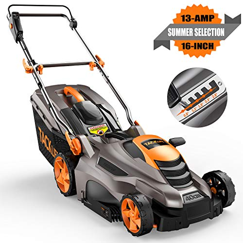 TACKLIFE Electric Lawn Mower, 16-Inch Corded Lawn Mower, 13-Amp Corded...