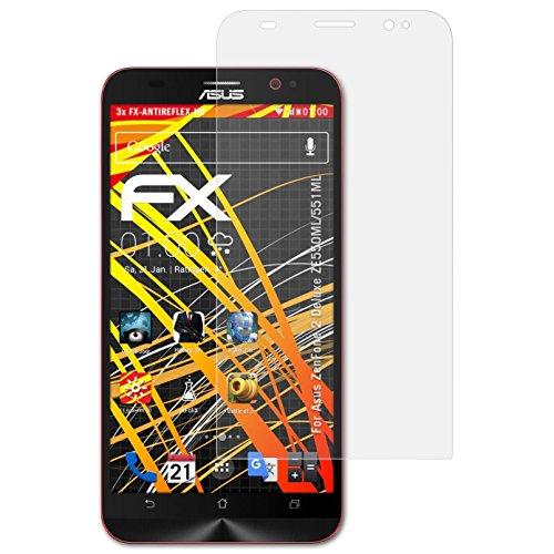 atFolix Schutzfolie kompatibel mit Asus ZenFone 2 Deluxe ZE550ML/551ML Bildschirmschutzfolie, HD-Entspiegelung FX Folie (3X)