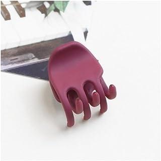 Osize 美しいスタイル シンプルな気質バレエのアクリルマットミディアムとスモールヘアクリップ爪クリップ(ロージー)