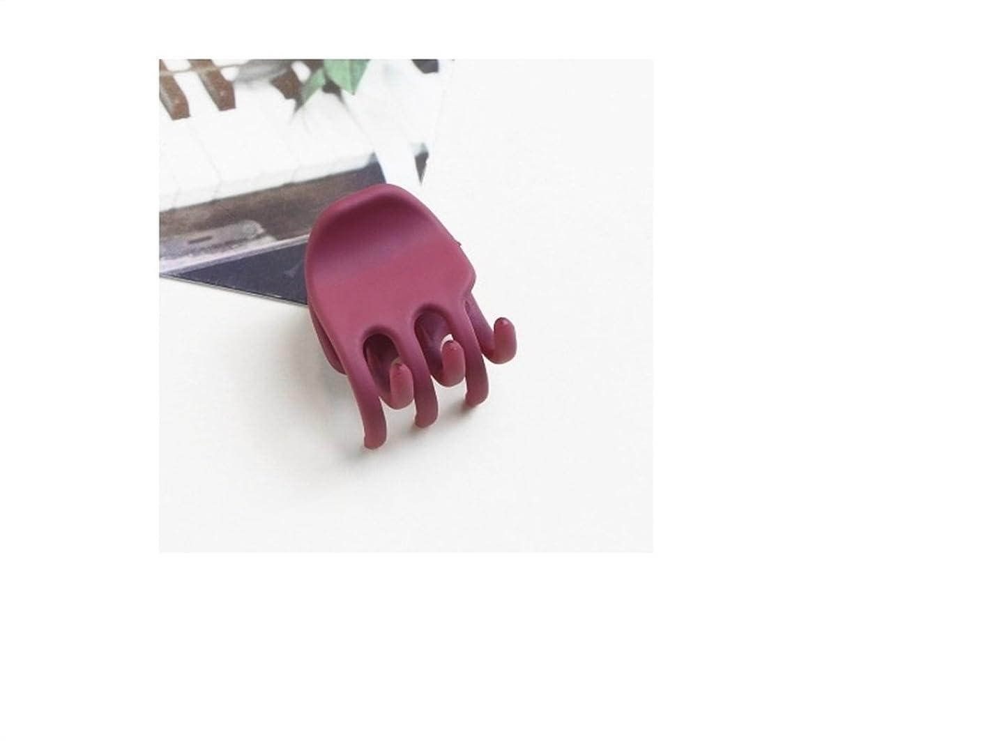 年次時期尚早使役Osize 美しいスタイル シンプルな気質バレエのアクリルマットミディアムとスモールヘアクリップ爪クリップ(ロージー)