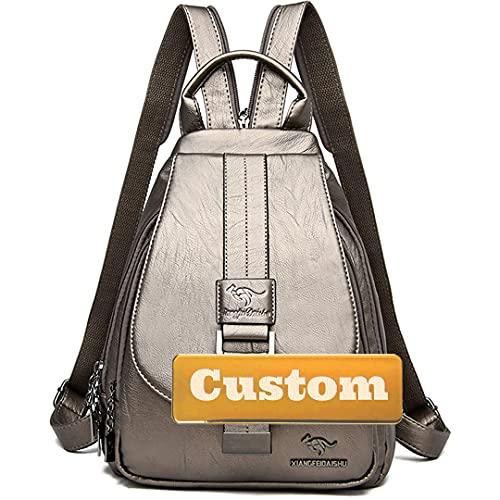 Claiyi Nome personalizzato Personalizzato Anti Furto Cabriolet per le donne Borsa vintage Zaino Una spalla (Color : Gutong, Size : One size)
