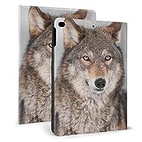 KUYE 1つ 耳 背部を持つオオカミ(イヌ属 iPad Pro 9.7 ケース カバー アイパッド プロ ipadpro 2016 9.7インチ スマートカバー 耐衝撃 ソフト