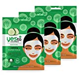 Yes To Calming Paper Mask, Cucumber, 3 Pack