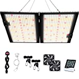 WAKYME LED Grow Light Dimmable, 4x4ft Sunlike Full Spectrum Grow Lamp with MeanWell Driver, Waterproof Plant Light with Fan for Hydroponic Indoor Seedling Greenhouse Growing Light (700pcs LED) …
