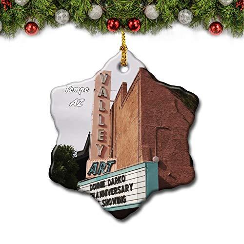 Umsufa Tempe Mill Avenue District Arizona USA Christmas Tree Ornament Travel Gift Souvenir 3 Inch Porcelain Double Side