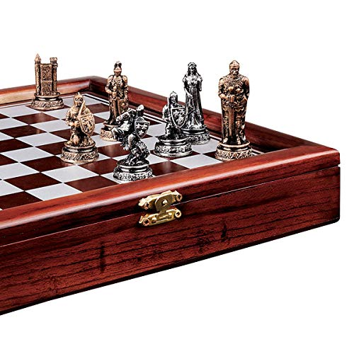 Design Toscano The Knights Mortal Conflict Chess Set