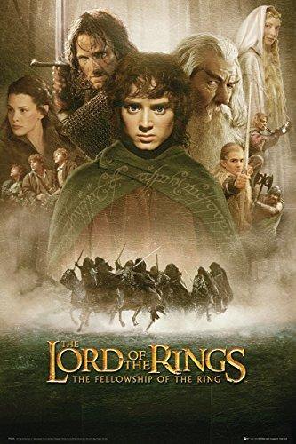 Lord Of The Rings Laminierte Offiziell Lizenziertes Herr der Ringe-Die Gefährten Poster Film Score