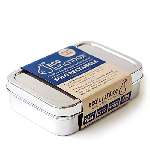 ECOlunchbox Solo Rectangle, große, rechteckige Brotdose aus Edelstahl | Lunchbox | Bento Box