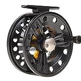 EElabper Mosca Carrete de aleación de Aluminio Resistente al Agua Carrete de Pesca Completo de los Accesorios Intercambiables para la Pesca con Mosca Carrete Rueda Negro