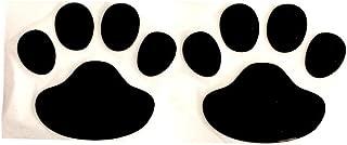 ZAVAREA 3D Chrome Dog Paw Footprint Sticker Decal Auto Car Emblem Decal Decoration