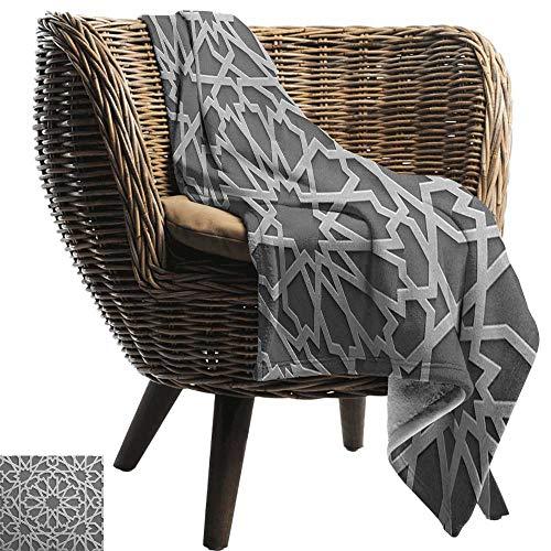 ZSUO kingsize deken Marokkaans,Geometrische vierkanten en rechthoeken Kleurrijk en Complex Ontwerp Bloemenarrangement,Multi kleuren Gezellige en Duurzame Fabric-Machine Wasbaar