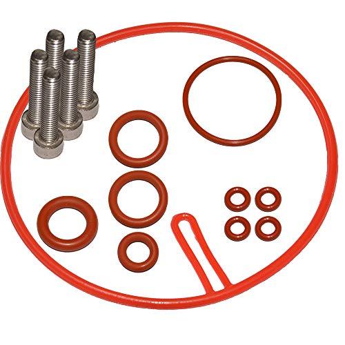 SW-K - Juego de mantenimiento para válvula de soporte Thermoblock y manguera de presión compatible con Saeco, Gaggia, Siemens, Bosch, König, Conforta, Solis, TurMix, Nespresso, Set-2