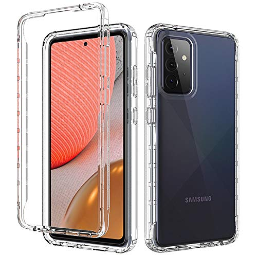 Tianyan Funda Samsung Galaxy A32 5G,360 Grados Full Body Anti-Shock [Suave TPU Silicona Delantera y PC Duro Trasera] 2 in 1 Protectora Carcasa Fundas para Samsung Galaxy A32 5G,Transparente