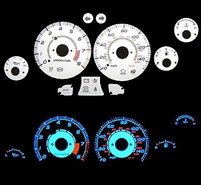 98 99 00 01 02 03 Mazda Miata w/ Tach White Glow Gauges