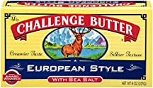 Challenge Dairy, Sea Salt European-Style Butter Quarters, 8 oz