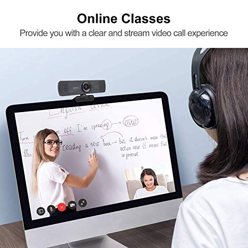 Spedal HD 1080P Webcam mit Stativ, Streaming Kamera mit Mikrofon, Weitwinkel 90 Grad Webcam für PC, Laptop oder Desktop, USB-Kamera für Facebook Skype OBS XSplit, kompatibel für Mac OS Windows 10/8/7