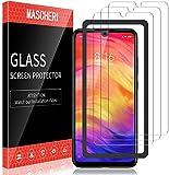 MASCHERI Schutzfolie für Xiaomi Redmi Note 7 / Note 7 Pro Panzerglas, [3 Pack] [Ausgestattet mit einem Einbaurahmen] Bildschirmschutzfolie Panzerfolie Bildschirmschutz Panzerglasfolie Glas Folie