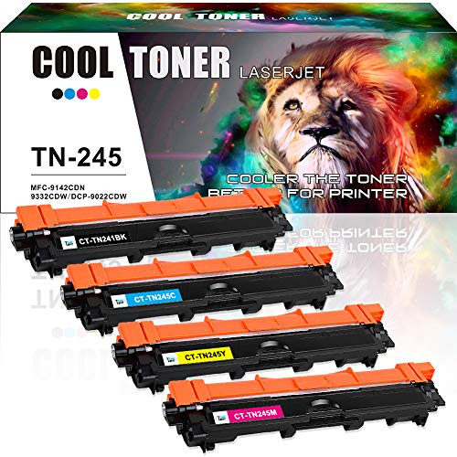 Cool Toner Compatible Toner Cartridge Replacement voor TN241BK TN-241 TN-245 voor Brother HL 3142CW HL-3152CDW HL-3140CW MFC-9140CDN 9330CDW 9340CDW HL-3150CDW 3170CDW 3172CDW MFC-9130CW DCP-9020CDW