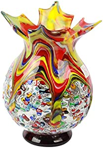 Melody - Jarrón en Cristal de Murano - Millefiori