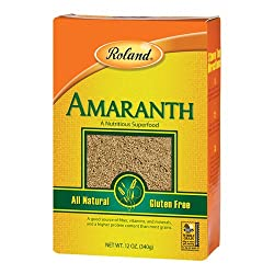 Box of Roland Amaranth for use as a popcorn alternative.