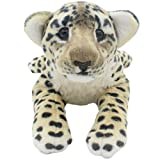 TAGLN The Jungle Animals Stuffed Plush Toys Cheetah Tiger Panther Lioness Pillows (Brown Leopard, 16 Inch)