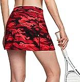 TSLA Falda de tenis para mujer Active Athletic con bolsillos y pantalones cortos integrados