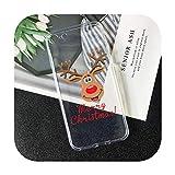 SUSUSUSU suave TPU árbol de Navidad Santa Claus teléfono caso para Samsung Galaxy A50 A70 S20 S11 S10 S9 S8 PLUS S7 TPU suave Santa Claus-A1535-para Galaxy S20 PLUS