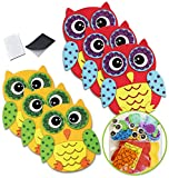 Owl Stickers Foam Crafts for Kids Magnet Kits for Kids Fall Crafts for Kids Preschool Crafts Kid Magnets Toddler Craft Kit Magnet Kids Owl Decal Party Crafts for Kids Childrens Magnets (12 Pack)