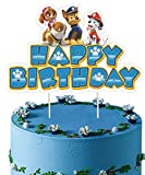 Paw Patrol Cake Topper,Paw Patrol Party Birthday Decorations Supplies Happy Birthday Cake Toppers
