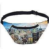 American Fanny Pack Bolsa, vista area New York City Running Travel Sports Bags para hombres y mujeres compaeros de trabajo