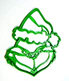 GRINCH HEAD DR SEUSS BOOK CARTOON CHARACTER CHRISTMAS MOVIE SPECIAL OCCASION COOKIE CUTTER BAKING TOOL 3D PRINTED MADE IN USA PR682