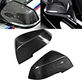 Carbon Fiber Mirror Cover - Side Door Mirror Housing Cover, Replacement Exterior Parts Rearview mirror Cover Fit for BMW 2012-2018 F20 F22 F30 F35 F32 E84