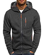 Material: 95%cotton, 5%spancex, lined with cotton. Long Sleeve Hooded Top, Sports Style, Soft and Lightweight, Comfortable to wear, Non-pilling, Resist fading. Design:Casual Sport style, Simple and Classic Design, Suitable for Fall, Spring and Winter...