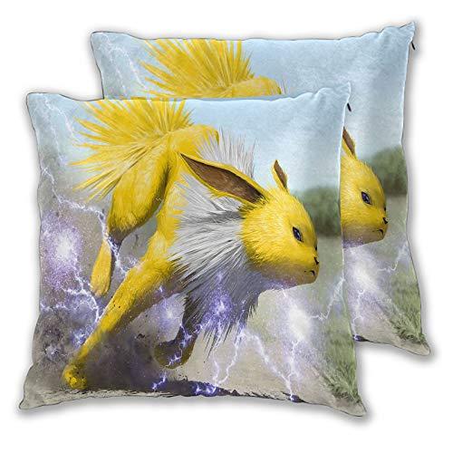 SSKJTC - Federa per cuscino in velluto per divano, letto, sedia, 50 x 50 cm, confezione da 2